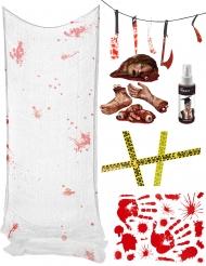 Blutiges Halloween Deko-Set Standard bunt