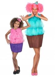 Cup-Cake Paarkostüm für Mutter und Tochter bunt