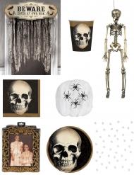 Skelett Halloween Deko-Set bunt