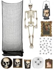Halloween Deko-Set Spukschloss bunt