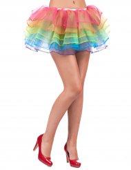 Bunter Regenbogen Tüllrock für Damen