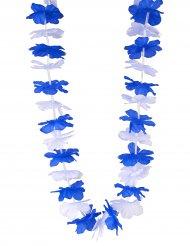 Blumenkette-Hawaii Finnland blau-weiss