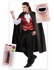 Vampir Kostüm-Set für Herren 3-teilig bunt