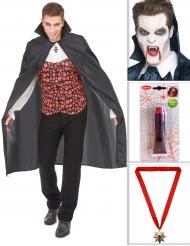 Vampir Kostüm-Set für Halloween bunt