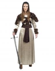 Mittelalterliche Kriegerin Erwachsenenkostüm