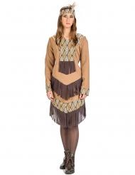 Indianer Kostüm mit Blättern für Damen