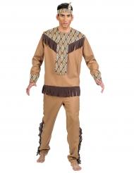 Indianer Kostüm mit Blättern für Herren