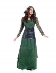 Mittelalterliches Elfen-Kostüm für Damen