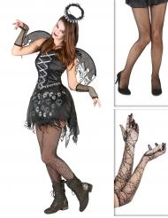 Dunkler Todesengel Kostüm-Set schwarz