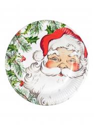 Pappteller Weihnachtsmann 8 Stück 23cm