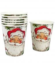 Pappbecher Weihnachtsmann 8 Stück 250ml