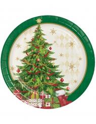 Kleine Pappteller Weihnachtsbaum 8 Stück 18cm