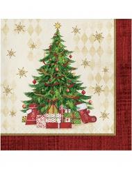 Weihnachts-Papierservietten Weihnachtsbaum 16 Stück bunt 33x33cm