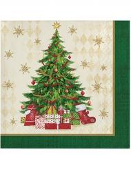 16 Papierservietten Weihnachtsbaum 25 x 25 cm