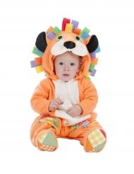 Süßes Löwen Kostüm für Babys Tierkostüm braun-bunt