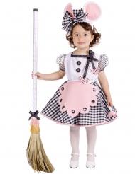 Bezauberndes Maus-Kostüm für Mädchen rosa-weiss-schwarz