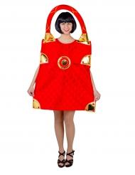 Kostüm rote Tasche für Damen