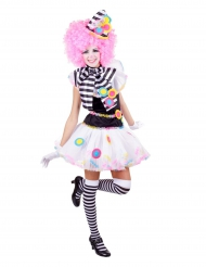 Verrücktes Clownkostüm für Damen bunt