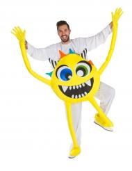 Kostüm gelbes Monster für Erwachsene