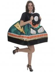 Humorvolles Auto-Kostüm für Damen bunt