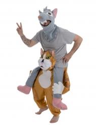 Carry Me Katze-Maus-Kostüm für Erwachsene