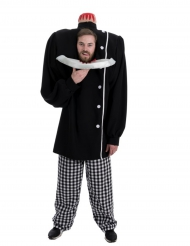 Kostüm abgehackter Kopf für Erwachsene