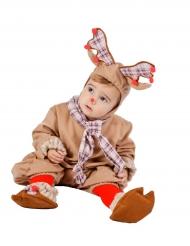 Süßes Rentier-Babykostüm Weihnachten beige-braun