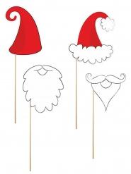 Fotoset Weihnachtsmann 4-teilig