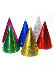 Partyhüte glänzend Kostümzubehör 20 Stück bunt