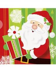 Süße Weihnachtsmann Servietten bunt 33 x 33 cm