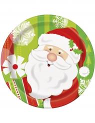 Kleine Weihnachtsmann Teller bunt 18 cm