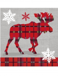 Papierservietten Weihnachtshäuschen 16 Stück 33x33cm