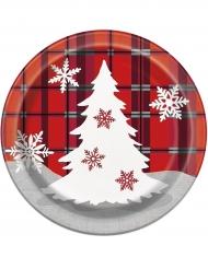Pappteller für Weihnachten 8 Stück 18cm