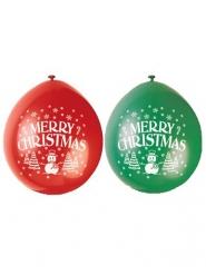 Latexballons für Weihnachten grün-rot 10 Stcük 23cm