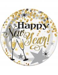 Kleine Pappteller Karton Happy new Year 18cm