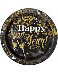 Pappteller Happy new Year 8 Stück 23cm