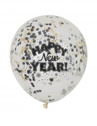 Luftballons Happy new Year 6 Stück 31cm