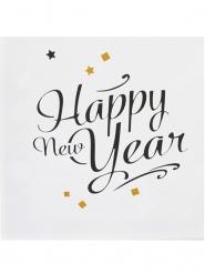 20 Papierservietten Happy new year 33x33 cm
