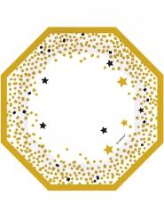 6 Teller goldene Sterne 18 cm