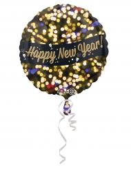 Happy New Year Aluminium-Ballon bunt 43cm