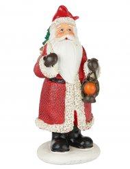 Weihnachtsmann Kunstharzfigur Raumdekoration rot-weiss 13cm