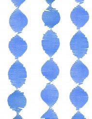 Girlande aus Papier mit Fransen blau 2,74 m