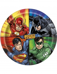 8 Pappteller Justice League™ 23 cm