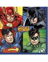 16 Servietten Papier Justice League™ 33 x 33 cm