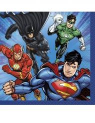 16 kleine Servietten aus Papier Justice League™ 25 x 25 cm