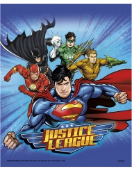 8 Party-Taschen Justice League™ 18 x 23 cm