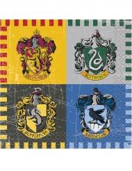 16 kleine Servietten Harry Potter™ 25 x 25 cm