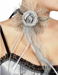 Graue Rose Halskette für Erwachsene