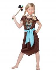 Edle Indianerin Kinder-Kostüm braun-bunt