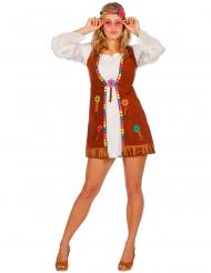 Hippie-Kostüm für Damen weiß